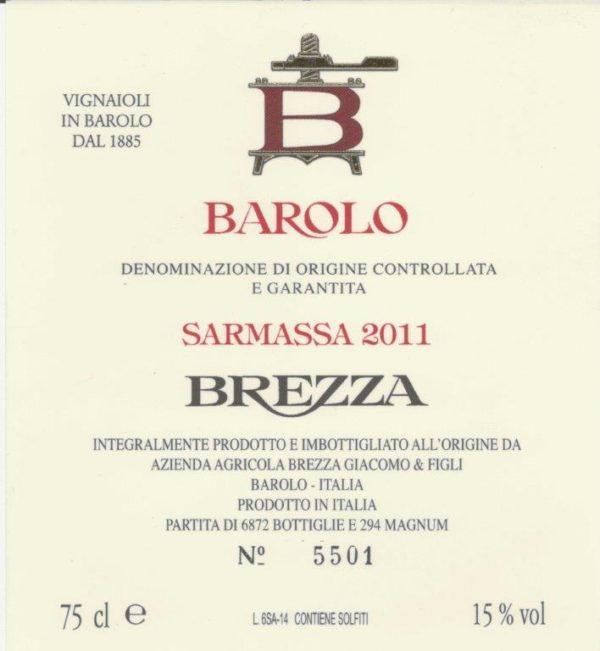 Barolo Brezza Sarmassa 2011