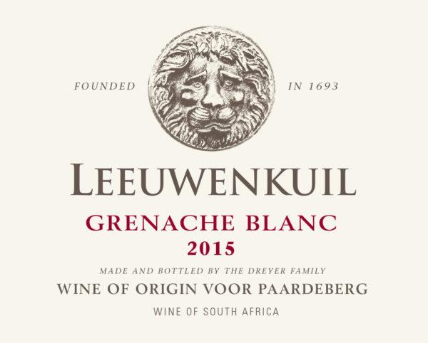 Leeuwenkuil Grenache Blanc 2015