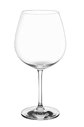 Ivento Crystal Burgundy Glass - Set of 6